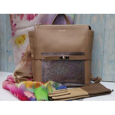 Рюкзак женский с голографическим карманом 2190